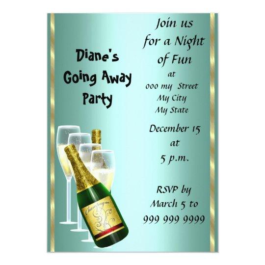 Farewell Party Invitation Card Good Bye – Invitation Card for Farewell