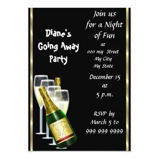Farewell Party Invitation Card Good Bye Black
