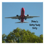 Farewell Party Invitation Plane Good Bye Personalized Invites