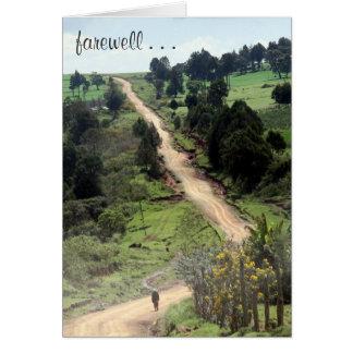 farewell path card