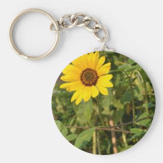 Farewell Summer-Sunflower Basic Round Button Keychain