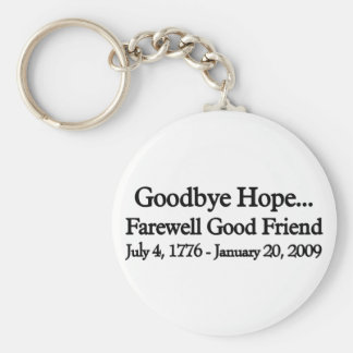 Farewell to hop basic round button keychain