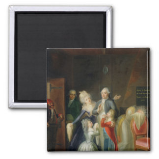 Farewell to Louis XVI by his Family 2 Inch Square Magnet