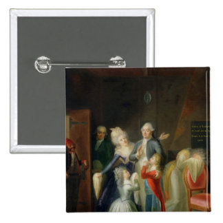 Farewell to Louis XVI by his Family Pinback Buttons