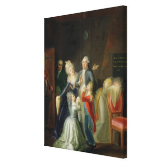 Farewell to Louis XVI by his Family Canvas Prints