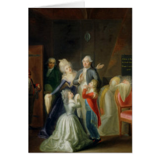 Farewell to Louis XVI by his Family Card