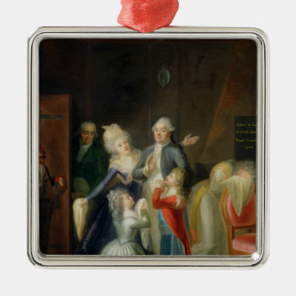 Farewell to Louis XVI by his Family Metal Ornament