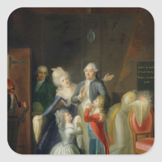Farewell to Louis XVI by his Family Square Sticker