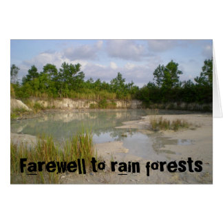 Farewell to rain forests card