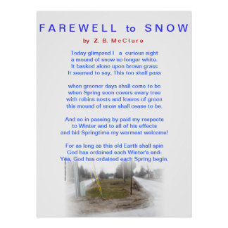 FAREWELL TO SNOW Poster