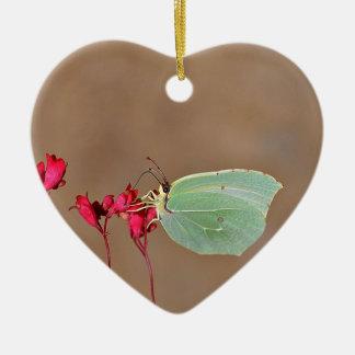 farfalla, natura, fiore, fiori, piante, Ali, Adorno Navideño De Cerámica En Forma De Corazón