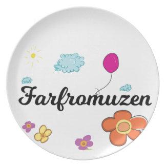 FarFrom Usen Logo Dinner Plate