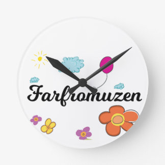 FarFrom Usen Logo Round Clock