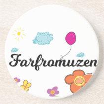 FarFrom Usen Logo Sandstone Coaster