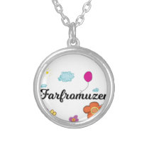 FarFrom Usen Logo Silver Plated Necklace