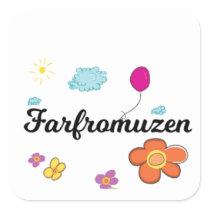 FarFrom Usen Logo Square Sticker