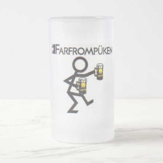 farfrompüken frosted glass beer mug