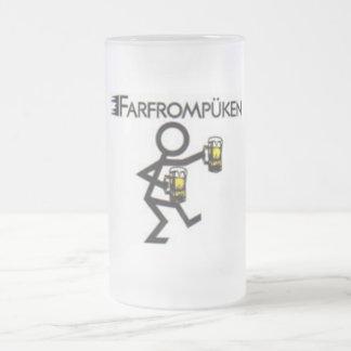 farfrompüken frosted glass beer mug