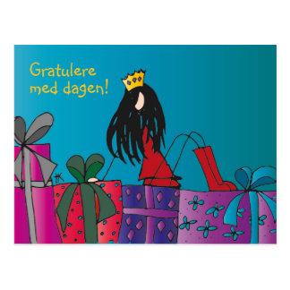 Fargerikt bursdagskort postcard