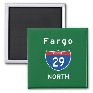 Fargo 29 imán cuadrado
