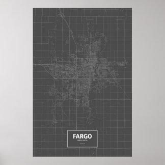 Fargo, Dakota del Norte (blanco en negro) Póster
