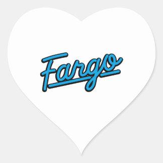 Fargo in cyan heart sticker