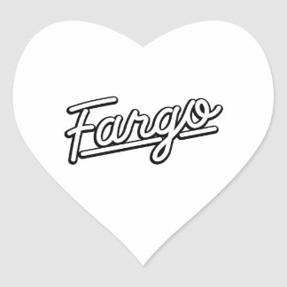 Fargo in white heart sticker