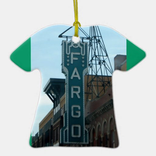 Fargo ND tshirt christmas ornament