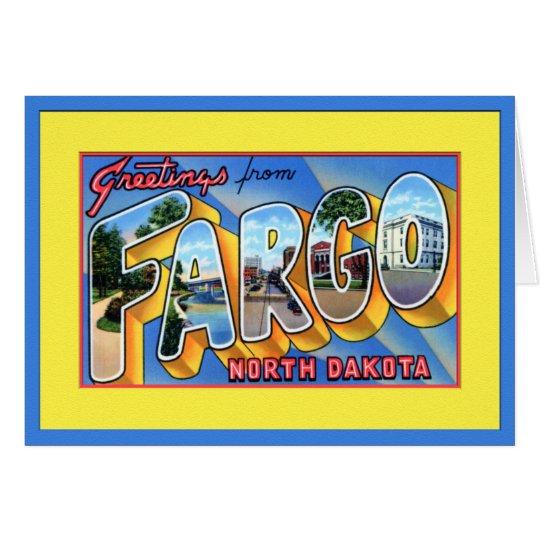 Fargo North Dakota Large Letter Greetings Card