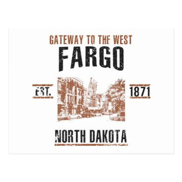 USA Themed Fargo Postcard