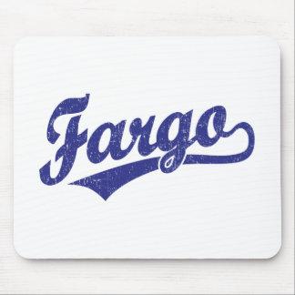 Fargo script logo in blue mouse pads