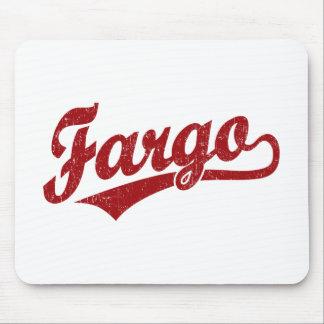 Fargo script logo in red mousepad