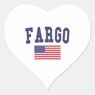 Fargo US Flag Heart Sticker
