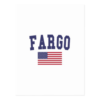 Fargo US Flag Postcard