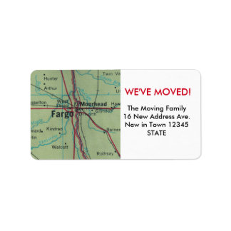 Fargo We've Moved label