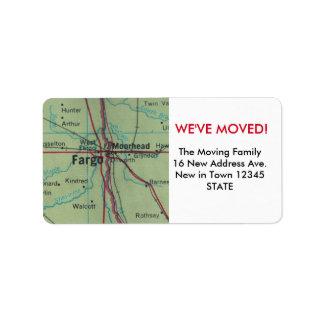 Fargo We've Moved label