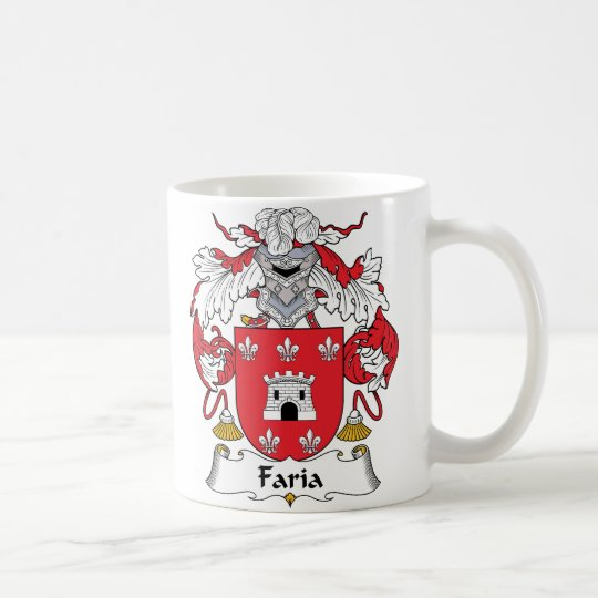 Faria Family Crest Coffee Mug