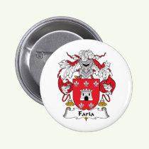 Faria Family Crest Button