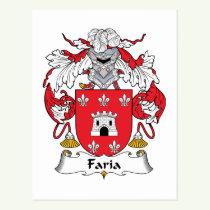 Faria Family Crest Postcard