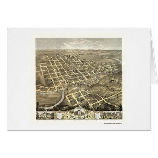 Faribault, mapa panorámico del manganeso - 1869 tarjeta de felicitación