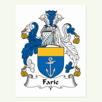 Farie Family Crest Postcard