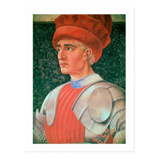 Farinata degli Uberti, detail of his bust, from th Postcard