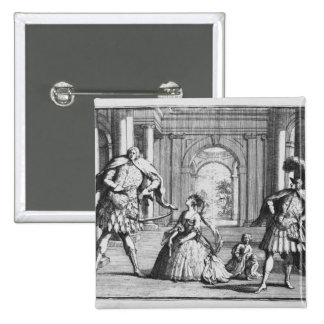 Farinelli, Cuzzoni and Senesino in Handel's Pinback Button