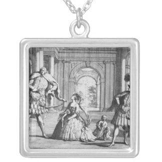 Farinelli, Cuzzoni and Senesino in Handel's Square Pendant Necklace