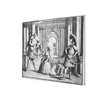 Farinelli, Cuzzoni y Senesino en Handel Impresion En Lona