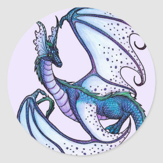 Fariy Dragon Classic Round Sticker
