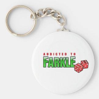 FARKLE - addicted Basic Round Button Keychain