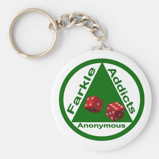 Farkle Addicts Anonymous Keychain