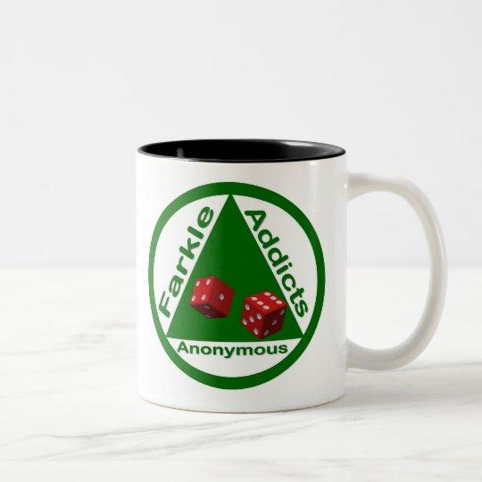 Farkle Addicts Anonymous Two-Tone Coffee Mug