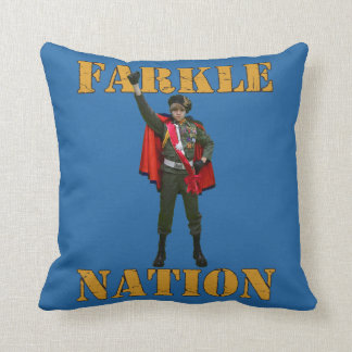 Farkle Nation Throw Pillow